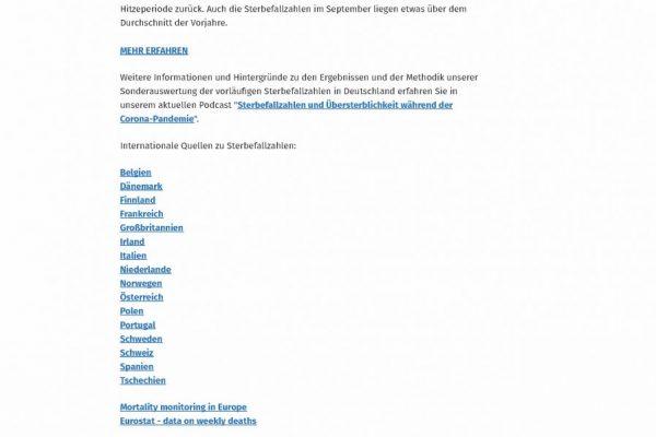 Sterbefallzahlen bis 41 KW - Statistisches Bundesamt